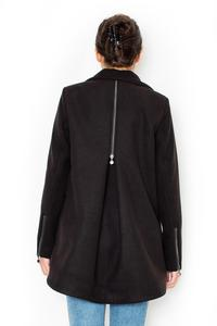 Black Short Fall/Spring Jacket with Zippers
