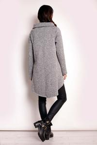 Grey Asymmetrical Fall Coat