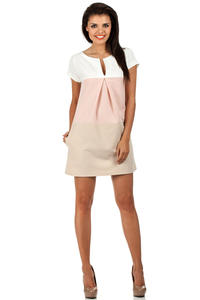 Powder Pink Modesty Casual Mini Dress