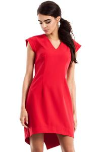 Red Dipped Hem Sleeveless Mini Dress