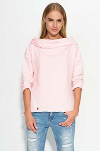 Pink Hooded Blouse