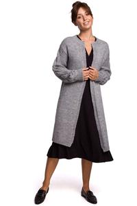 Long Cardigan without Clasp (Gray)