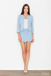 Blue Set Mini Dress+Short Blazer