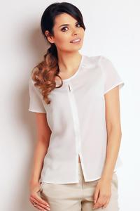 Ecru Summer Short Sleeves Blouse