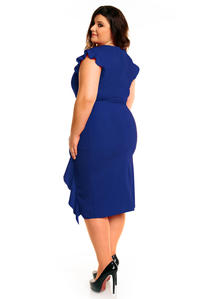 Blue Elegant Prom Dress with Frill PLUS SIZE