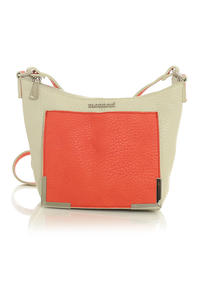 Beige&Red Long Single Shoulder Strap Bag