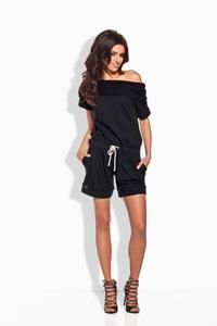 Black Short Ladies Jumpsuit