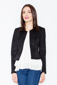 Black Suede Imitation Short Ladies Blazer