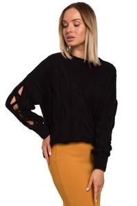 Warm Boat Neck Sweater (Black)