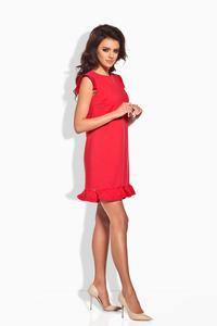 Red Romantic Frill Mini Coctail Dress