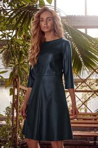 Flared Midi Dress 3/4 sleeves (Green)