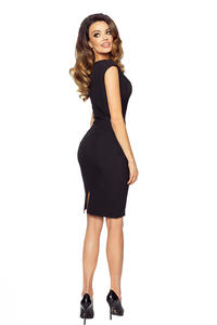 Black Bodycon Fit Knee Length Dress