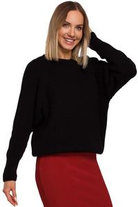 Simple Long Sleeve Sweater (Black)