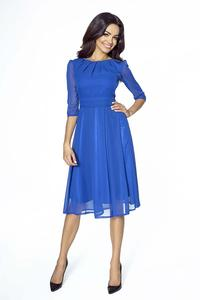 Blue Evening Long Sleeves Dress