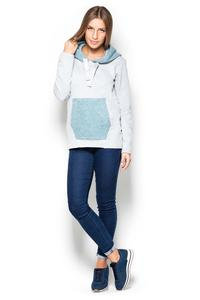 Jumper with Blue Kangoo Pocket