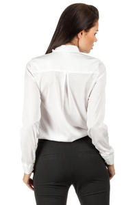 White Silky Feel Appointment Blouse Shirt