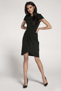 Black Classic Short Sleeves Dress