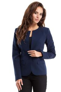 Dark Blue One Button Classic Ladies Blazer
