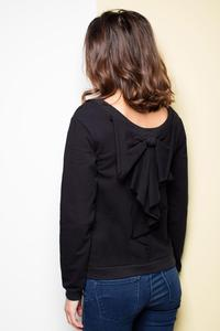 Black Long Sleeves Jumper with Big Bow
