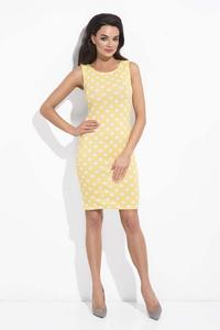 Yellow Polka Dot Pattern Bodycon Dress