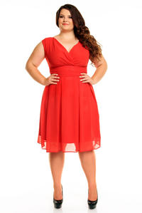 Red Elegant Evening Romantic Party Dress PLUS SIZE