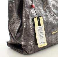 Dark Grey Shiny Snake Skin Imitation Bag