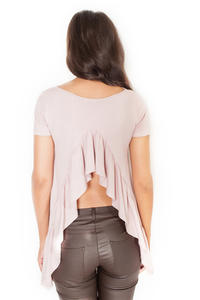 Pink Blouse with Frill at The Back
