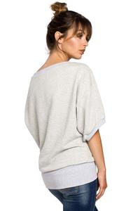Light Grey Oversized Blouse