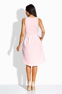 Pink Heart Shape Neckline Asymetrical Dress