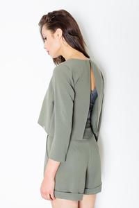 Green Chic&Stylish Open Back Ladies Jumpsuit
