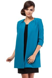 Blue Elegant Long Blazer