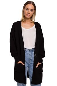 Long Cardigan with Pockets (Black)