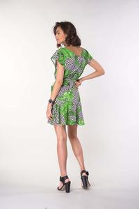Girls' Dress with Pockets - Leaves