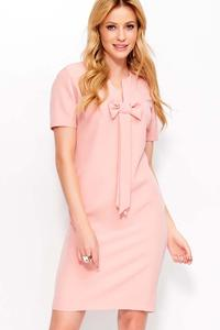 Pink Mini Dress with Bow