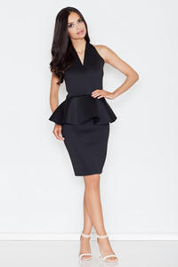 Black Stylish Coctail Peplum Dress