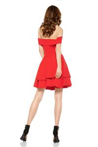Red Sexy Dress With Frilled Skirt