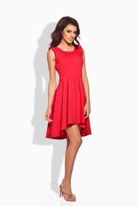 Red Dipped Hem Coctail Dress