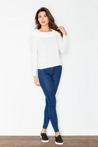 Ecru Knitwear Wide Tourtle Neck Blouse