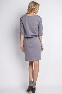 Grey Casual 3/4 Sleeves Dress