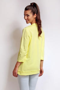 Yellow 3/4 Sleeves Light Ladies Cardigan