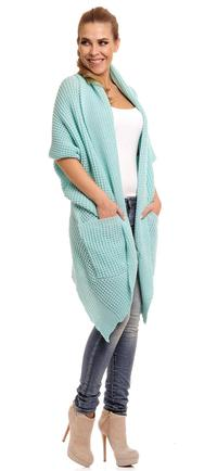 Mint Oversized Cardigan with Pockets