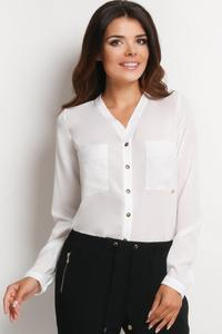 Ecru Ladies Shirt with Chest Pockets