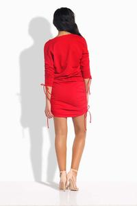 Red Drawstring Sport Style Dress