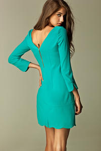 Sky Blue Straight Cut Executive Mini Dress