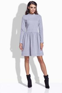 Light Grey Long Sleeves Casual Dress