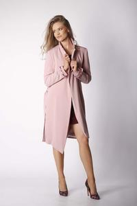 Light Pink Elegant Coat with a frill on the sleeve