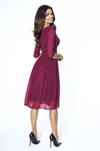 Dark Red Evening Long Sleeves Dress