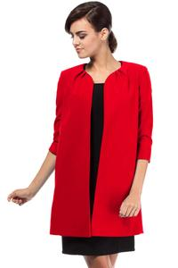 Red Elegant Long Blazer
