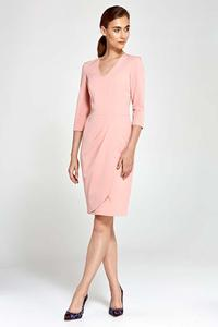Pink Classic Office Style Dress