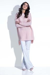 Powder Pink Sweater with Longer Back